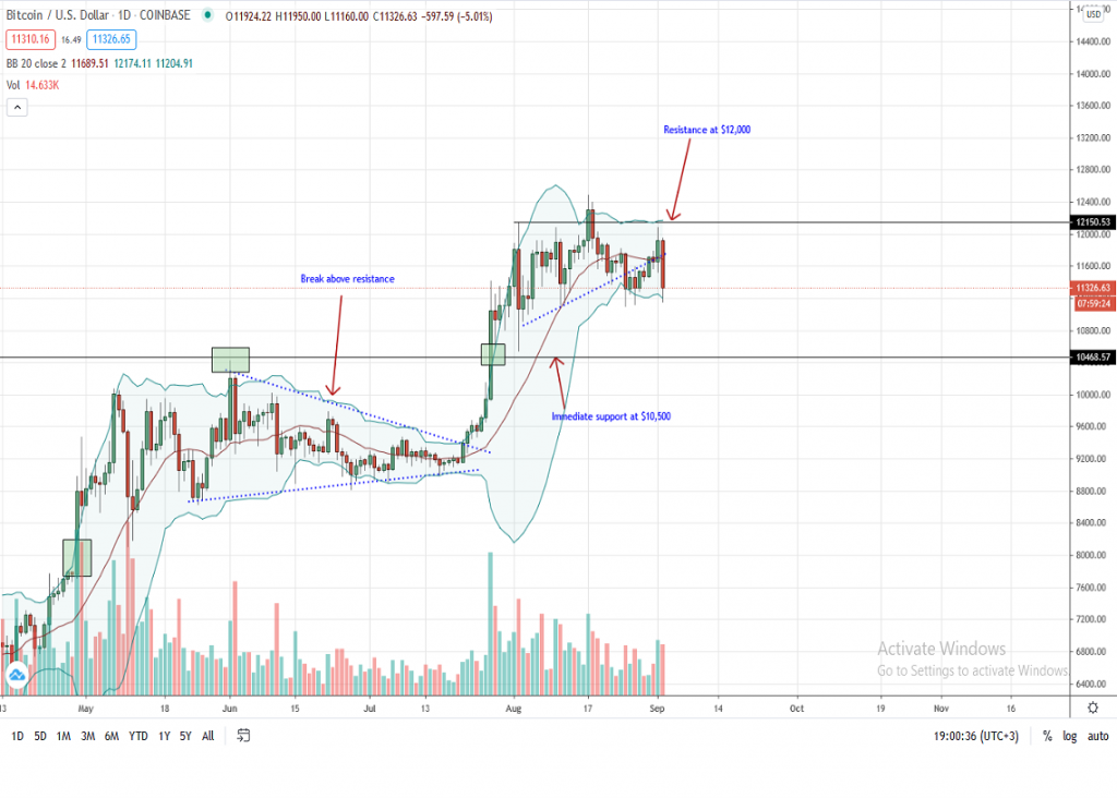 Bitcoin Price Daily Chart for Sep 2
