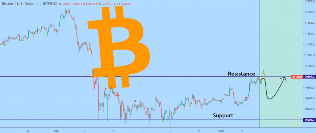 Bitcoin price chart 2 - 14 September