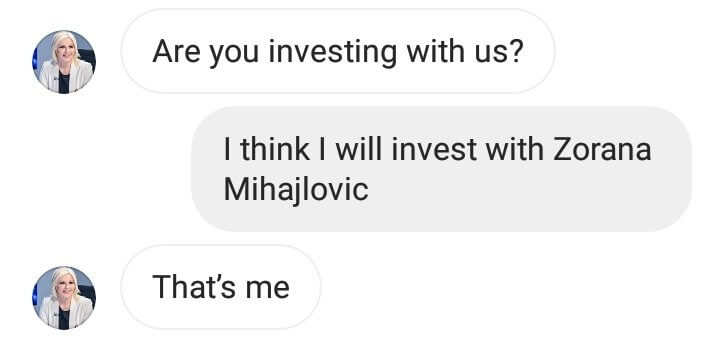 Melissa claimed to be Serbian official