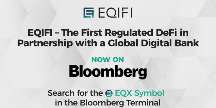 EQIFI, the DeFi in partnership with a Global Bank now available on the Bloomberg Terminal 1