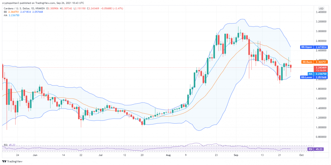 Cardano price analysis: Bears reactivate downtrend to pull price to $2.24 1